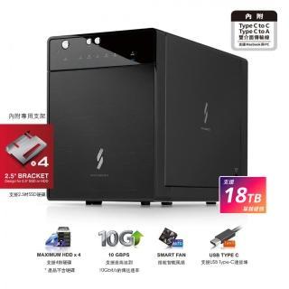 【PROBOX】USB3.1 Gen-II 3.5/2.5寸四層式硬碟外接盒(Type-C+A雙介面版)