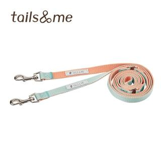 【tails&me 尾巴與我】多功能雙色標準款牽繩 M(多色可選)