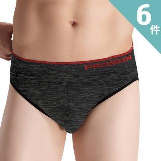 【PROMAN 豪門】立體塑型彈性三角褲-六件組