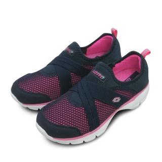 【LOTTO】女 LOTTO 輕量健走鞋 EASY WEAR 系列(深藍桃 5886)