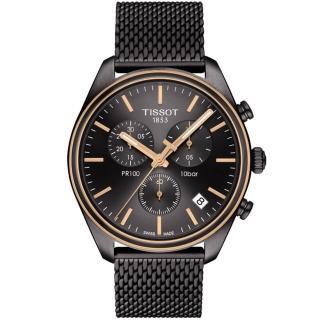 【TISSOT 天梭】PR100經典時尚計時腕錶(T1014172306100)