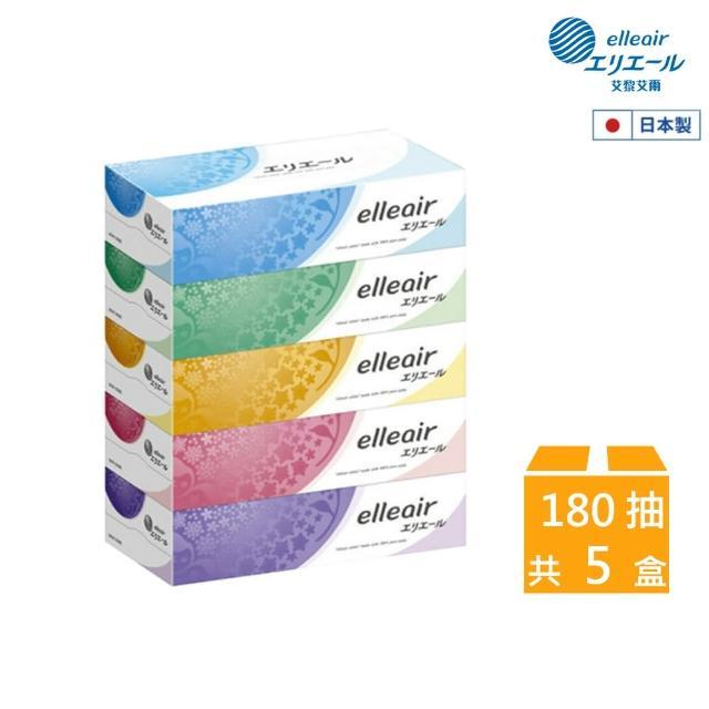 【日本大王】elleair 柔膚抽取式面紙(180抽x5盒)