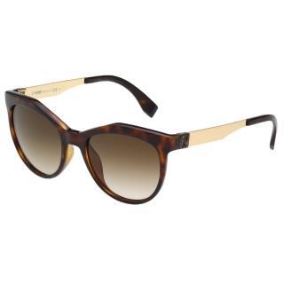 【FENDI 芬迪】時尚太陽眼鏡FF0049S(琥珀色)