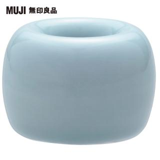 【MUJI 無印良品】白磁牙刷架/1支用/藍色