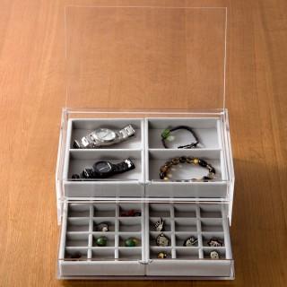 【MUJI 無印良品】壓克力盒用灰絨內盒/小格