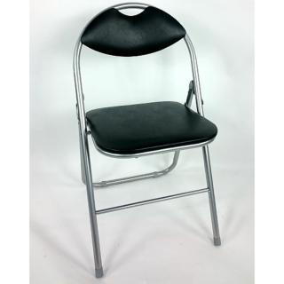 【Brother 兄弟牌】卡羅有背折疊椅-黑色2入(戶外傢俱)