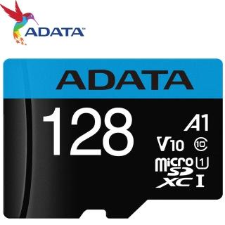 【ADATA 威剛】128GB 100MB/s microSDXC TF UHS-I U1 A1 V10 記憶卡