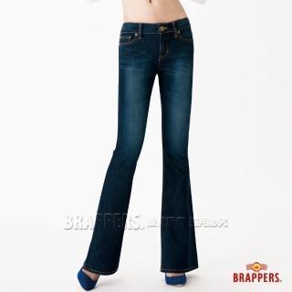 【BRAPPERS】女款 新美腳Royal系列-彈性大喇叭褲(藍)