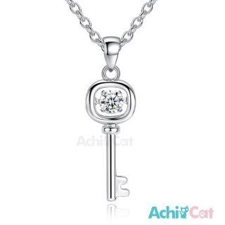 【日本CROSSFOR 授權專利機芯-AchiCat】925純銀項鍊 跳舞的項鍊 真愛鑰匙 跳舞石 CS7049