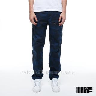 【EAR EAST】男款 口袋迷彩工作長褲(藍)