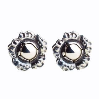 【Georg Jensen 喬治傑生】2002年度銀石夾式耳環