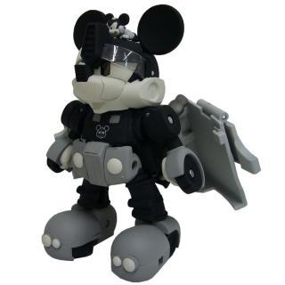 【TAKARA TOMY】Disney 迪士尼 米奇變形金剛-黑白版(男孩 機器人)