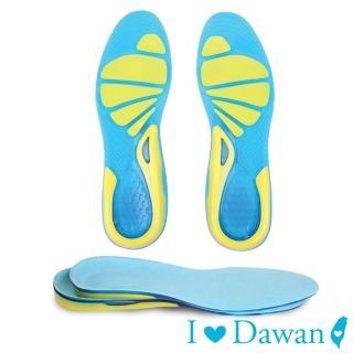 【IDAWAN 愛台灣】可剪裁矽膠回彈運動鞋墊(1對入)