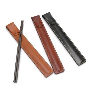 【2R手工真皮】頭層植鞣牛皮 Craftsman 手工環保筷袋