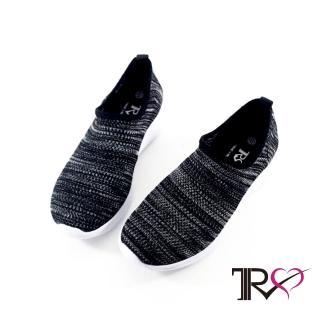 【TRS】韓國TRS舒適 輕盈 襪套 懶人 運動休閒鞋-黑白(7100-0060)