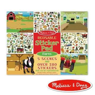 【Melissa & Doug 瑪莉莎】貼紙簿 - 可重複貼紙 - 農場