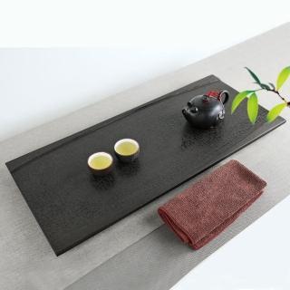 【生活禪】玄武岩石雕茶盤-禪風無限 B21-001(乾泡 58x25x2.5cm)