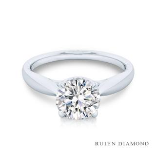 【RUIEN DIAMOND 瑞恩鑽石】GIA30分 3EX D VVS2(18K白金 鑽石戒指)
