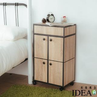 【IDEA】全實木-漫威多格移動式化妝收納櫃(專業收納)