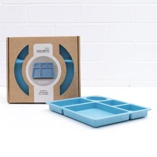【澳洲bobo&boo】竹纖維馬卡龍分隔餐盤-海豚藍(兒童環保餐具)