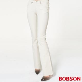 【BOBSON】女款低腰雙向伸縮喇叭褲(932-72)