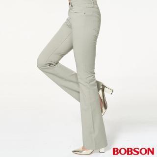 【BOBSON】女款低腰雙向伸縮喇叭褲(932-41)