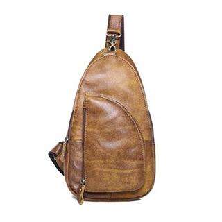 【米蘭精品】胸包真皮牛皮肩背包(休閒復古歐美街頭男包包生日禮物2色73lq15)