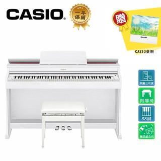 【CASIO 卡西歐】AP-470 WH 88鍵數位電鋼琴 時尚白色木質款(原廠公司貨 商品保固有保障)