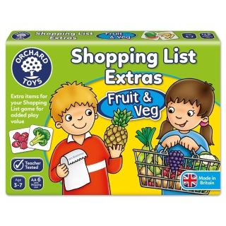 【Orchard Toys】幼兒桌遊-蔬果採買趣(Shopping List Extras- Fruit & Veg)