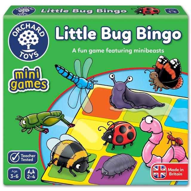 【Orchard Toys】可攜桌遊-昆蟲賓果(Little Bug Bingo Mini Game)