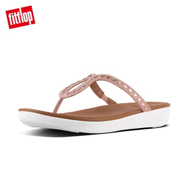 【FitFlop】STRATA TM TOE-THONG SANDALS - WHIPSTITCH LEATHER(灰粉)