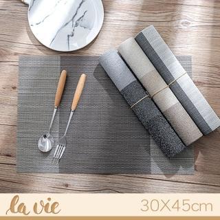 【La Vie】簡約條紋隔熱餐墊防滑餐墊(2入)