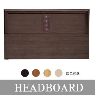 【HOME MALL】銀點木心板 加大6尺床頭片(4色可選)