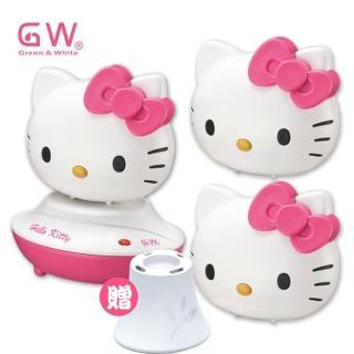 【GW 水玻璃】Hello Kitty分離式除濕機芳香組3機+1座(多國專利台灣製造)