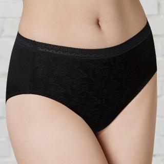【曼黛瑪璉】中腰三角生理褲(黑)