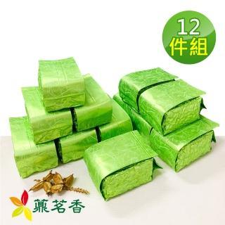 【薡茗香】極品手採清香冷泉春茶(超值12件組/附提袋)