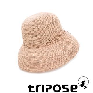 【tripose】經典優雅-100%手工Raffia時尚遮陽草帽-帽簷-10cm(棕色)