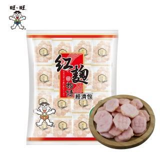 【旺旺】紅麴物語經濟包(240g/包/養生米果米餅/人氣辦公室休閒零食海鹽/全素非油炸小包裝)