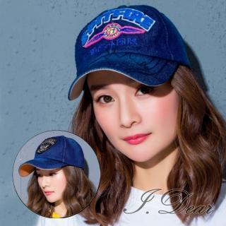 【I.Dear】韓國街頭男女字母圖騰牛仔布棒球鴨舌帽(3色)