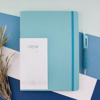 【綠的事務用品】眼色View-16K精裝橫線筆記本-藍