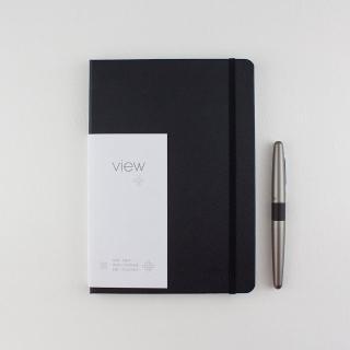 【綠的事務用品】眼色View-25K精裝方格筆記本-黑