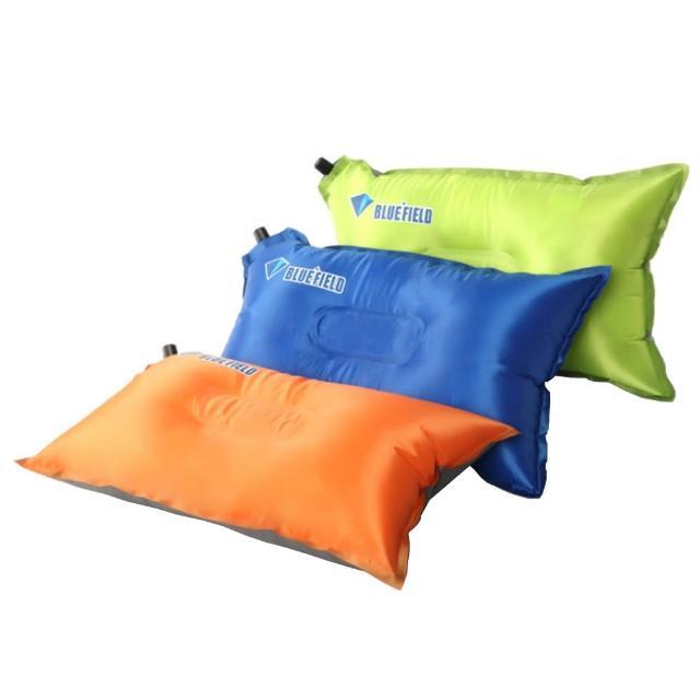 【PUSH!】戶外休閒用品自動充氣枕頭頭枕辦公室午憩枕頭P105/
