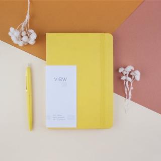 【綠的事務用品】眼色View-32K精裝橫線筆記本-黃
