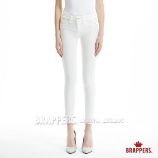 【BRAPPERS】女款 新美腳 Royal 系列-中低腰彈性窄管褲(白)