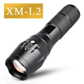 爆亮 XM-L2 多功能伸縮變焦 LED 手電筒(伸縮變焦 多重閃爍模式 登山露營 防颱地震)