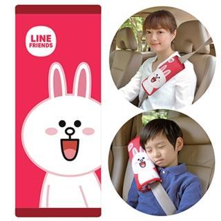 【LINE FRIENDS】大安全帶護套/靠枕(兔兔CONY)