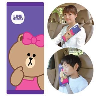 【LINE FRIENDS】大安全帶護套/靠枕(熊美CHOCO)
