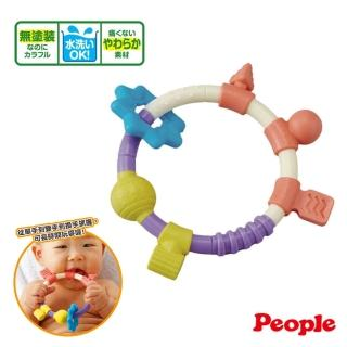 【People】環狀手搖鈴咬舔玩具(咬舔配件 柔軟材質)