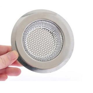 【PUSH!】外徑9CM內徑5.8CM深度2CM密合式不鏽鋼流理台水槽濾網(HD1017)