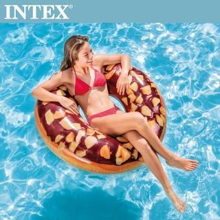 【INTEX】巧克力DONUT游泳圈114cm 適用9歲+(56262)